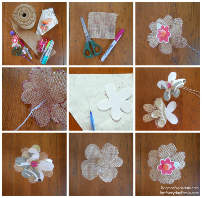 Burlap Flowers- Craft Tutorial Beautiful & Simple DIY Home Decoration Step by Step Tutorials