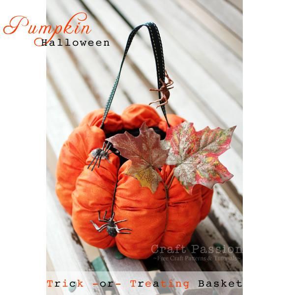 Hallowe'en Pumpkin Basket Winter Special Sewing Patterns Full Tutorial
