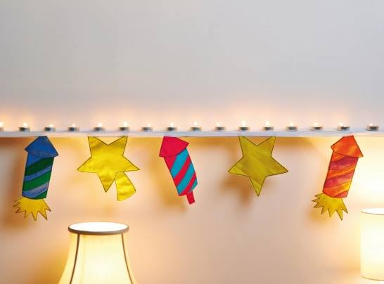 Fireworks Bunting Winter Special Sewing Patterns Full Tutorial