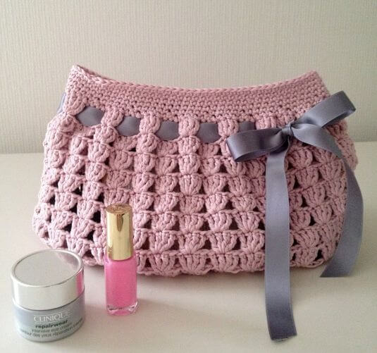 crochet string bag DIY : Learn To Make Simple Drawstring Purse