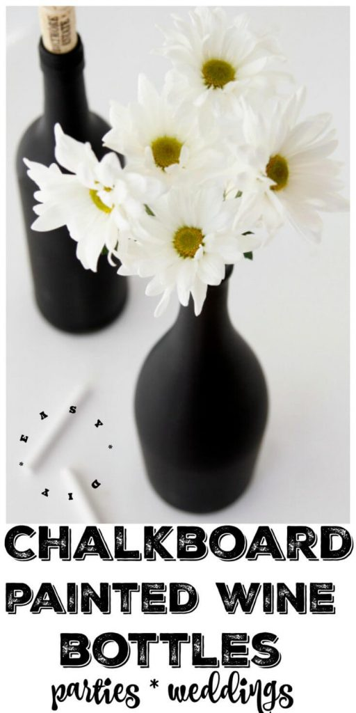 Painted Wine Bottles. Creative Ways to Use Chalkboard Paint Projects