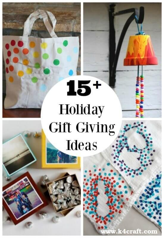 Holiday Simple Gift Giving Ideas Kids Can Make