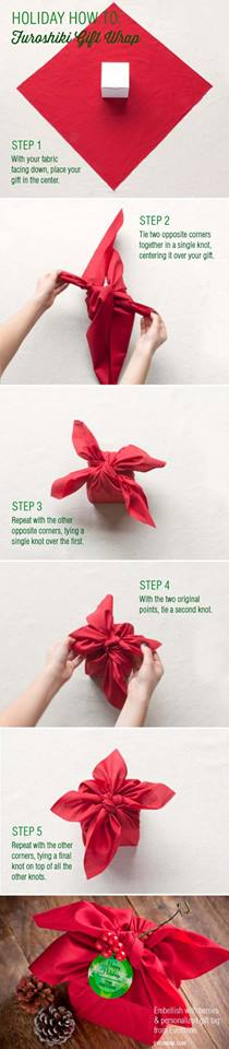 Beautiful Furashiki step by step gift wrapping DIY : Simple Step by Step Gift Wrapping Tutorials