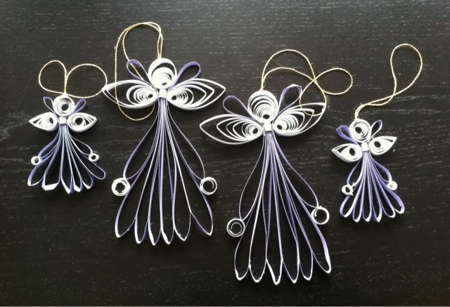 Christmas Ornaments : Learn To Make Quilling Angel