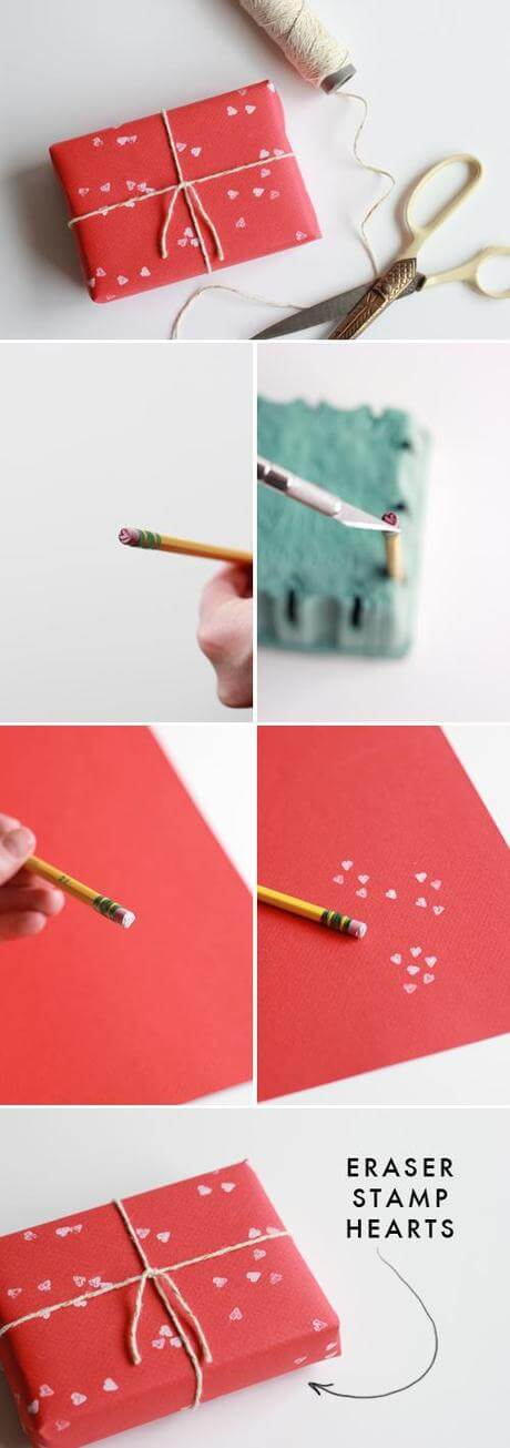 2-simple-valentines-day-gift-wrapping-ideas-l-9sotkc Genius Tricks for Gift Wrapping - Step by step Ideas