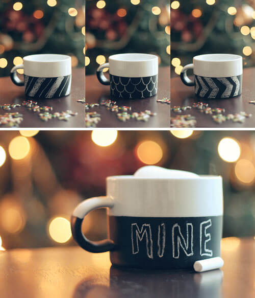 Chalkboard Mug: Ready to be customized for any personality Creative Ways to Use Chalkboard Paint Projects