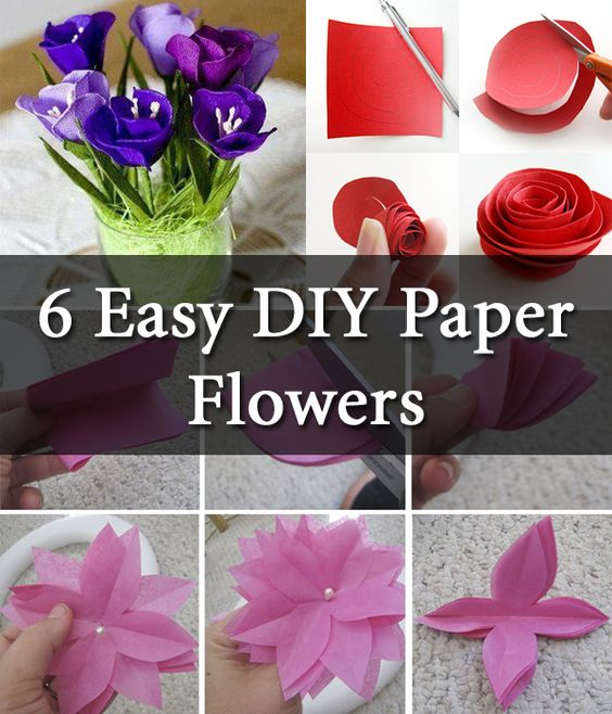 Easy 3D Paper Flowers for Spring | Paper flower decor, Flower ... | 658x564