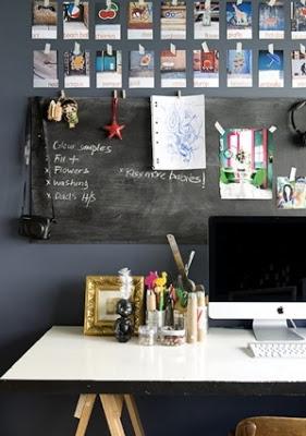 Workspace Bulletin Board Creative Ways to Use Chalkboard Paint Projects