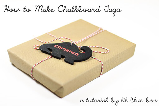 Chalkboard Tags: Great for gifts Creative Ways to Use Chalkboard Paint Projects