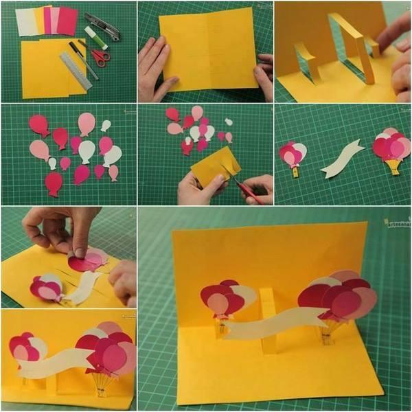 3d-card DIY:Creative 3D Birthday Card Easy Handmade Card for Birthday