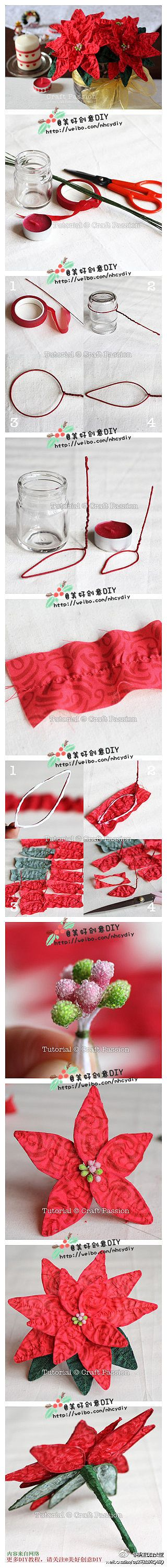 diy-cloth-christmas-poinsettia Last-Minute DIY Christmas Gift Tutorials Everyone will Love