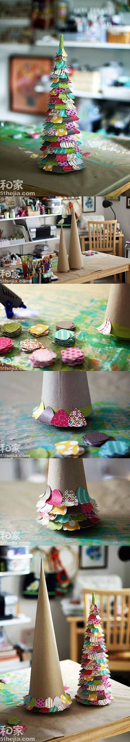 diy-colorful-paper-christmas-tree Last-Minute DIY Christmas Gift Tutorials Everyone will Love