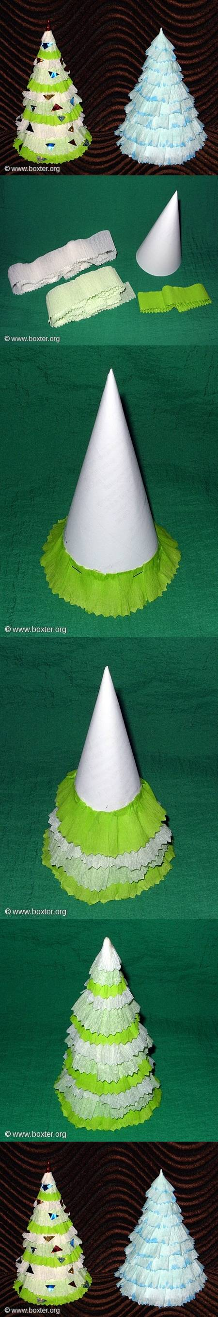 diy-crepe-paper-christmas-tree Step by step Christmas Tree Crafts for Kids to Make