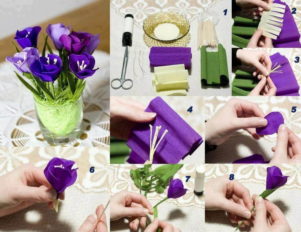 diy-crepe-paper-flower DIY Paper Flower Step by step making tutorials