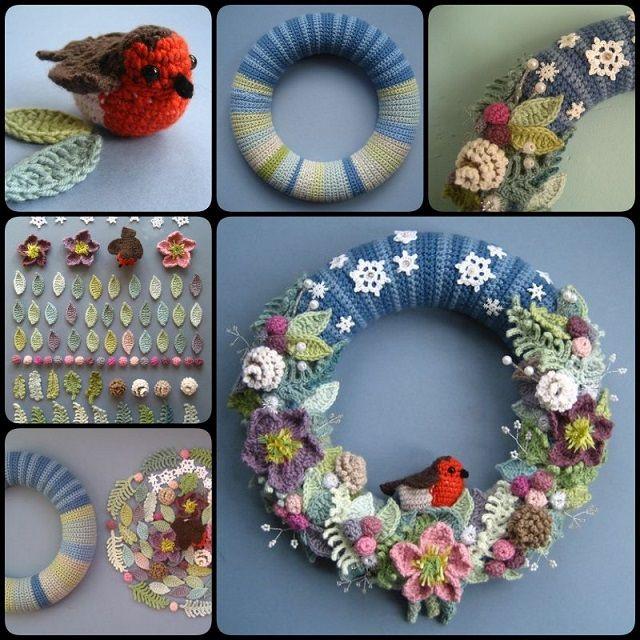 diy-crochet-wreath-step-by-step Christmas Wreath Step by Step Ideas