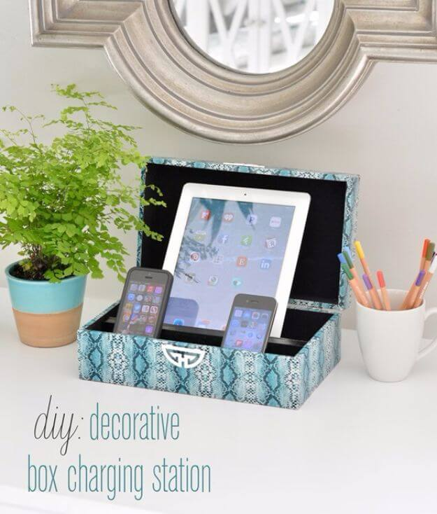 DIY Decorative Box Charging Station DIY Decor Ideas For Teen Girls (Step by step)