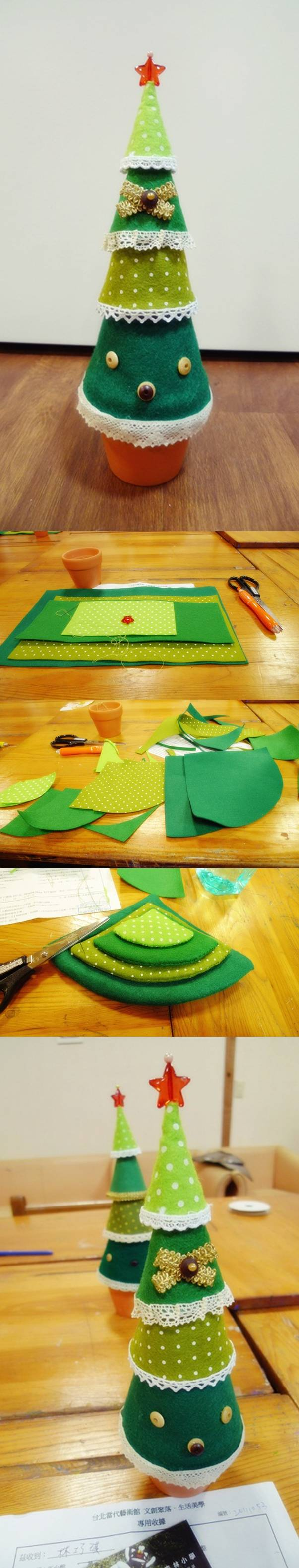 diy-easy-felt-christmas-tree Step by step Christmas Tree Crafts for Kids to Make