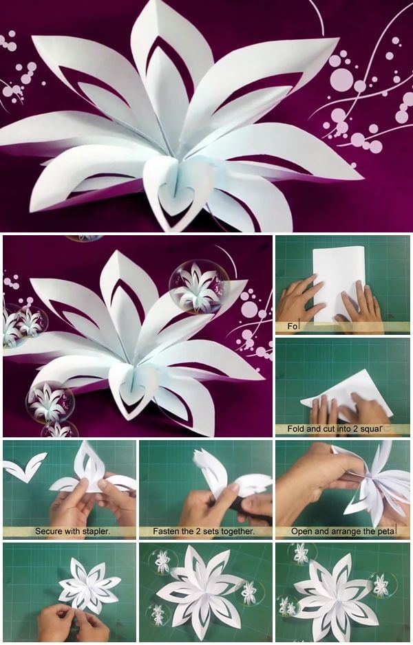 diy-layered-paper-flower-cutting-and-folding-tutorial DIY Paper Flower Step by step making tutorials