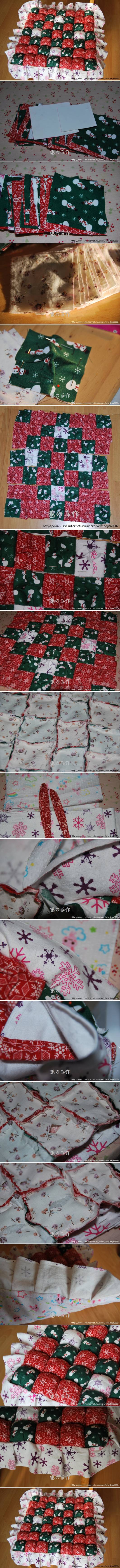 diy-patchwork-pillow Holiday Decoration Patchwork Ideas - Step by step
