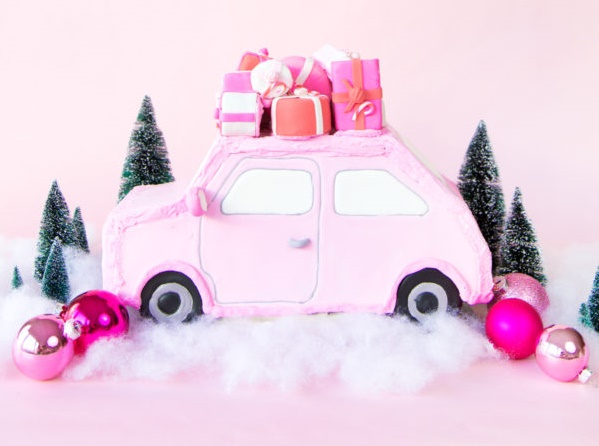 Pink gingerbread car tutorial for birthday Birthday Party Craft Ideas