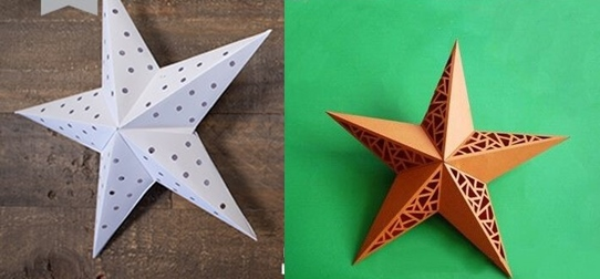 diy-xmas-paper-star-lights DIY : Learn to Make Christmas Paper Star Lights for Tree Decoration (Tutorial)