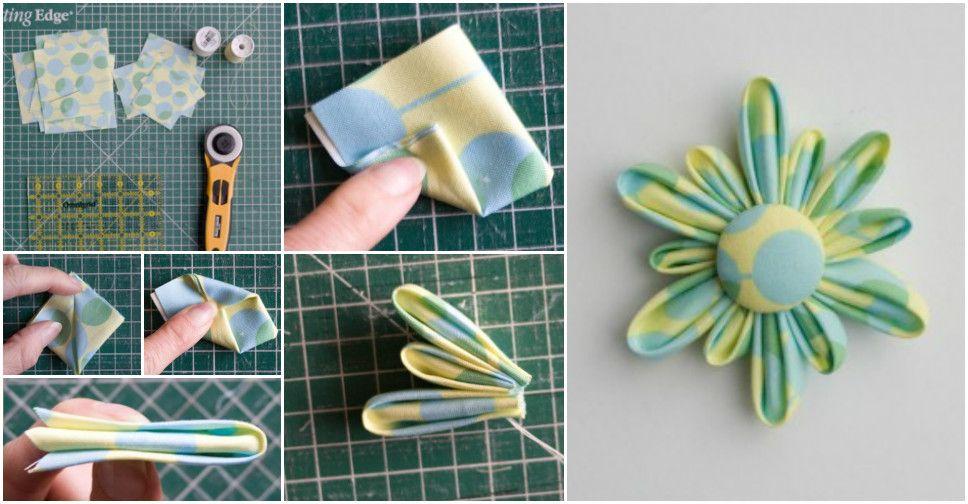 diy-a-fabric-flower-brooch DIY a Fabric Flower Brooch DIY Step by Step Fabric Flowers