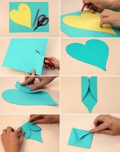 heart-shape-card Heart Shaped Card that fold into an Envelope Easy Handmade Card for Birthday