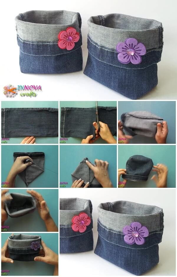 how-to-make-bags-from-recycled-jeans DIY Clever Projects from OLD DENIM JEANS - Step by step tutorial