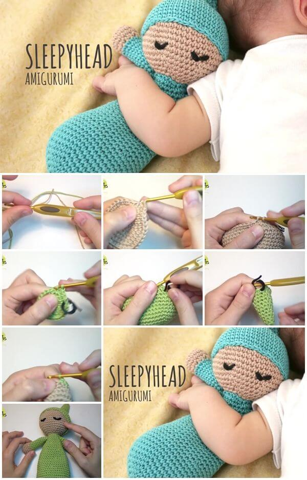 how-to-make-crochet-sleepydoll-amigurumi Step by step Crochet Amigurumi Patterns Animals