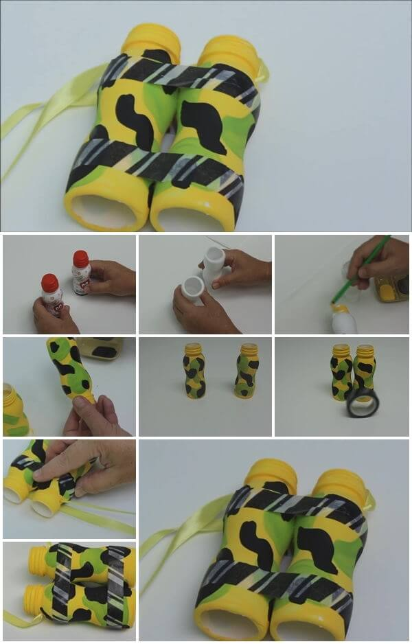 how-to-make-plastic-bottle-binocular DIY Step by Step Plastic Bottle Crafts Ideas
