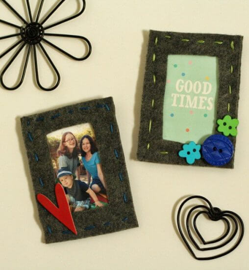 magnetic-felt-frames Holiday Simple Gift Giving Ideas Kids Can Make