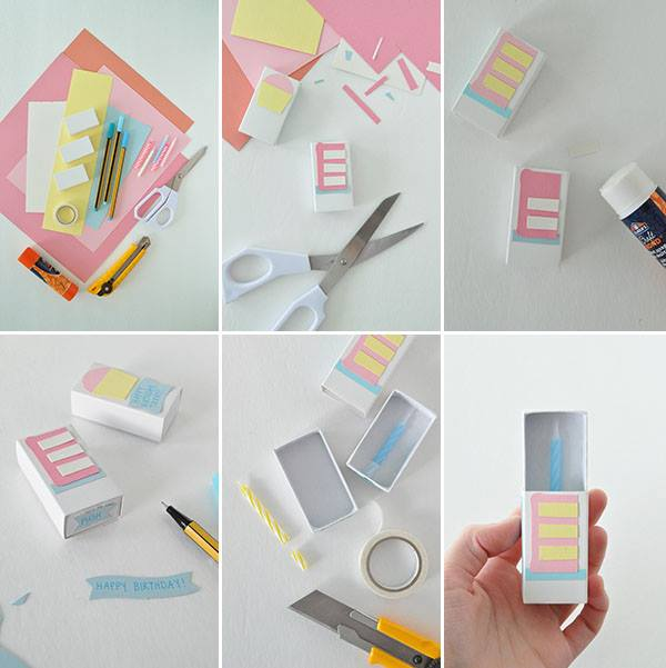 Matchbox-Birthday -Card Easy Handmade Birthday, Gift Cards (Step by Step)