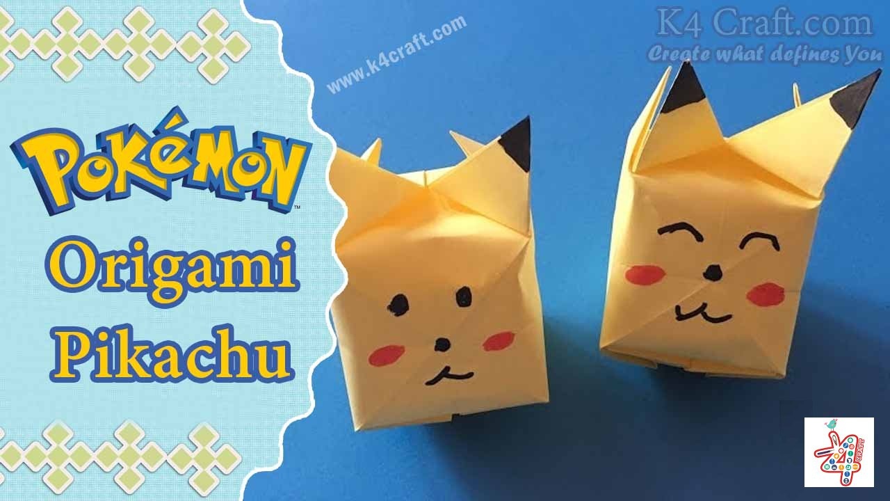 How To Make 3D Origami Pikachu Pokemon | DIY Paper Picachu Pokemon ... | 720x1280