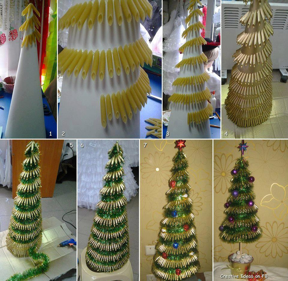 pasta-christmas-tree Last-Minute DIY Christmas Gift Tutorials Everyone will Love