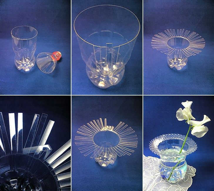 Plastic bottle into an elegant flower holder Step by Step Tutorial : Best out of waste ideas from plastic bottles