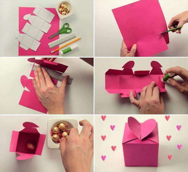 Beautiful heart shaped step by step gift wrapping Simple Step by Step Gift Wrapping Tutorials