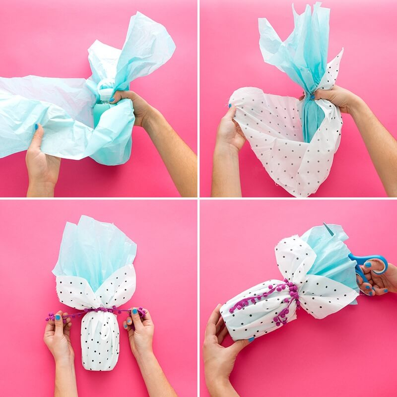 step DIYWrapping Oddly Shaped Gifts Genius Tricks for Gift Wrapping - Step by step Ideas