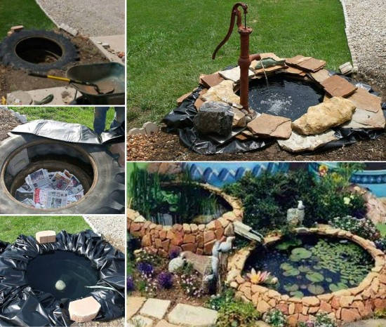 tractor-tyre-fish-pond-tutorial DIY Tractor Tire Fish Pond