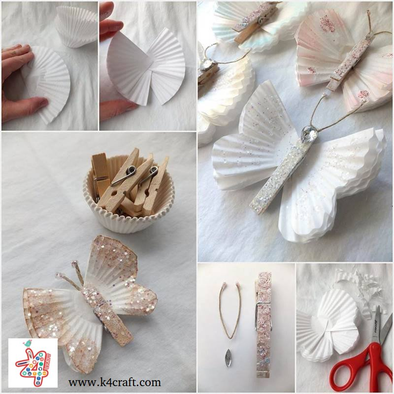 butterfly-craft-tutorial-k4craft Amazing Butterfly Craft Step by Step Tutorials