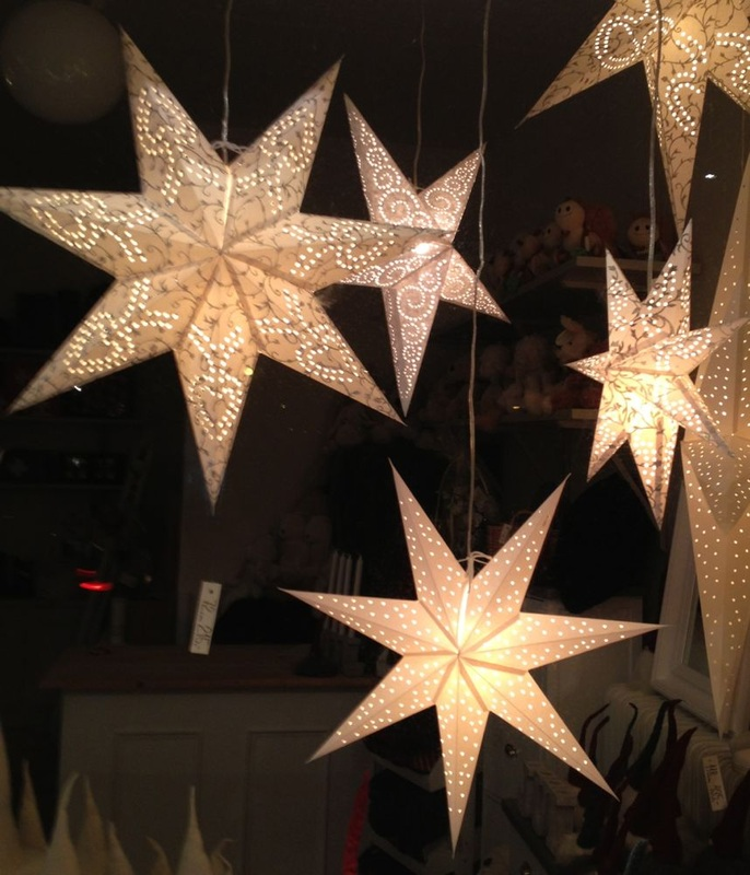 christmas-star DIY : Learn to Make Christmas Paper Star Lights for Tree Decoration (Tutorial)