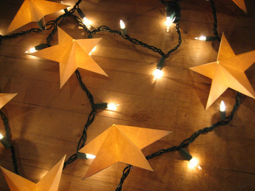 christmaslightscraftsstarsspacediy DIY : Learn to Make Christmas Paper Star Lights for Tree Decoration (Tutorial)