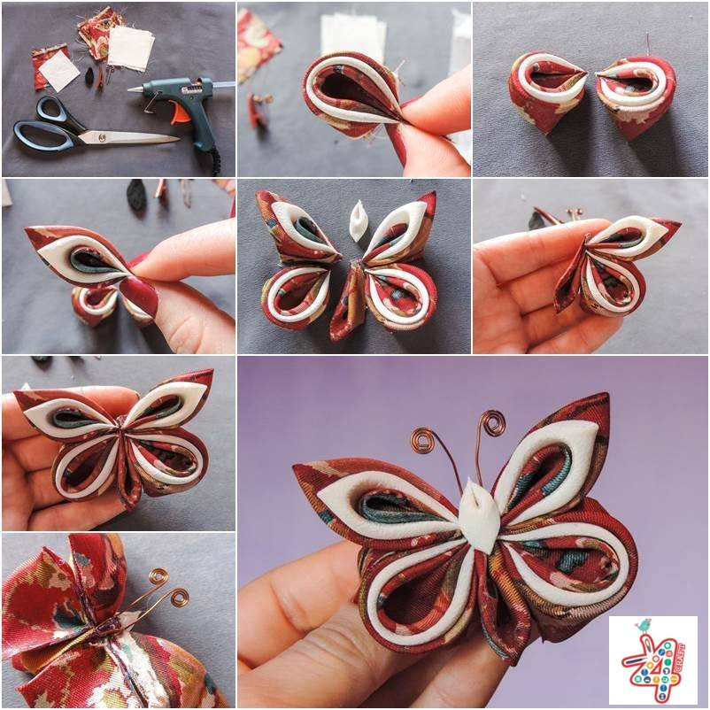 clothes-butterfly-craft-k4craft Amazing Butterfly Craft Step by Step Tutorials
