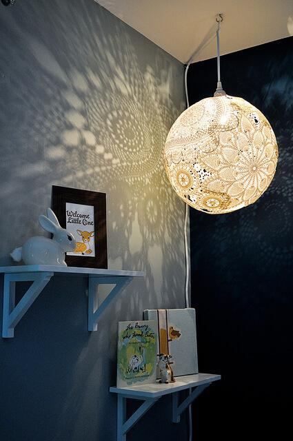 DIYDoily Lamp Tutorial DIY Decor Ideas For Teen Girls (Step by step)