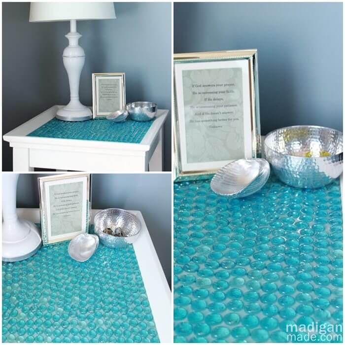Glass Marble Table Top DIY Decor Ideas For Teen Girls (Step by step)