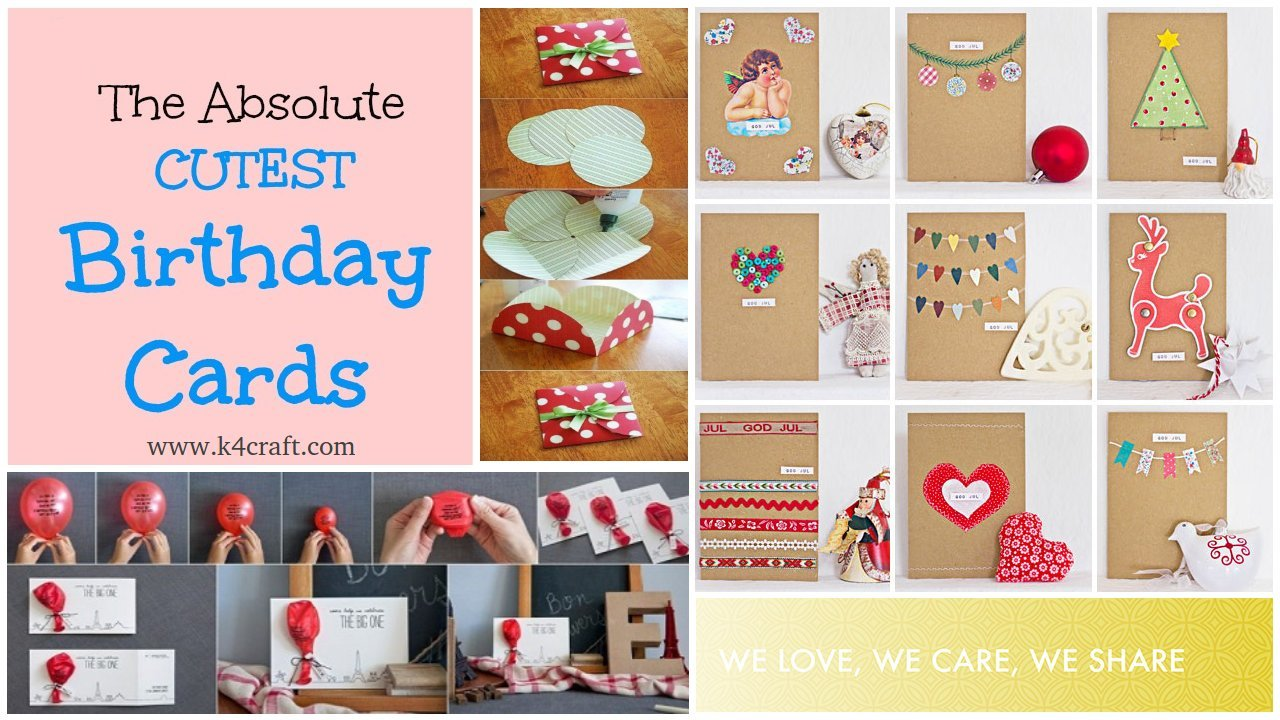 Cute birthday cards for kids on birthdays Birthday Party Craft Ideas