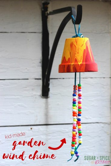 kid-made-garden-wind-chime Holiday Simple Gift Giving Ideas Kids Can Make