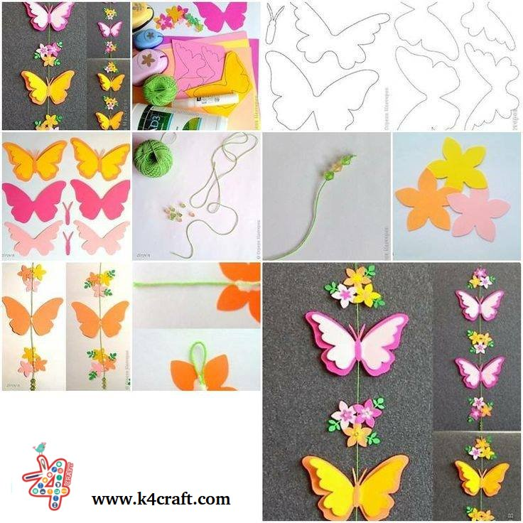 paper-butterfly-tutorial-k4craft Amazing Butterfly Craft Step by Step Tutorials