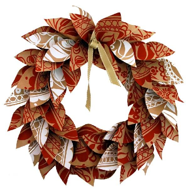 Paper Christmas Wreath Tutorial
