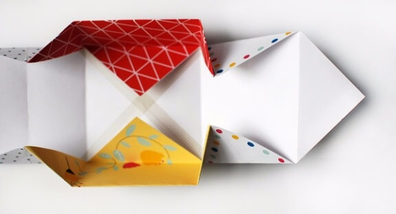 patchwork-paper-origami-Patchwork Paper Origami Gift Boxes (Step by Step Tutorial)