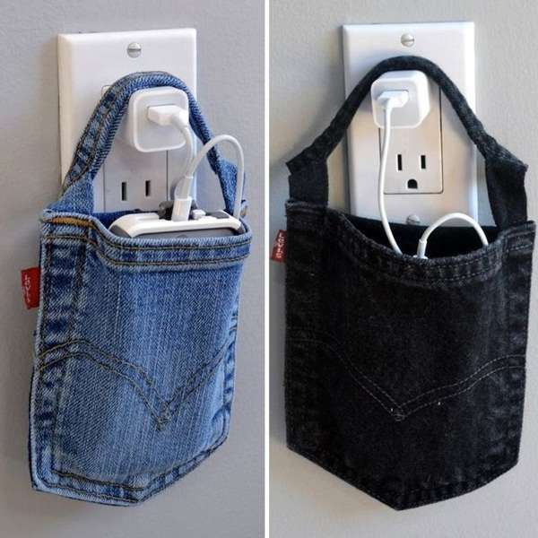 photo-holder-pocket DIY Clever Projects from OLD DENIM JEANS - Step by step tutorial